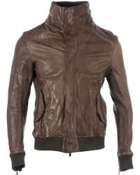 Incarnation - Funnel Neck Leather Jacket - Lyst