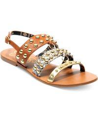 Jessica Simpson Kari Flat Sandals - Lyst