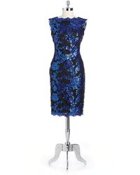 Tadashi Shoji Sequin Sheath Dress - Lyst
