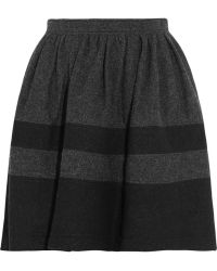 Burberry Brit - Pleated Woolblend Skirt - Lyst