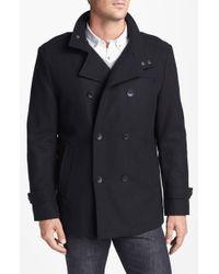 Kenneth Cole Melton Pea-coat - Lyst