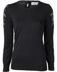 Lela Rose Lace Pullover - Lyst