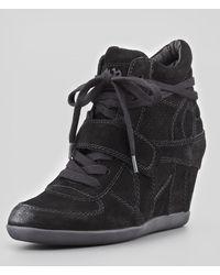 Luxury Rebel - Bowie Suede Wedge Sneaker Black - Lyst