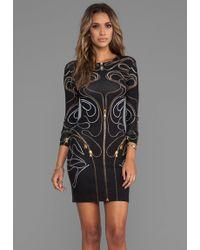 McQ by Alexander McQueen Long Sleeve Zipper Dress in Black - Lyst