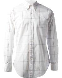 Thom Browne Window Pane Check Shirt - Lyst