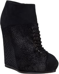 Viktor & Rolf Wedge Lace Up Bootie - Lyst