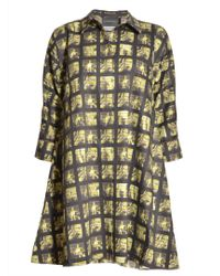 Antipodium - Tessallation Shirt Dress in Double Take Print By - Lyst