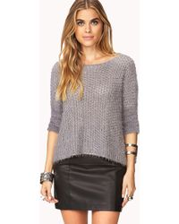 Forever 21 Cozy Metallic Woven Sweater - Lyst