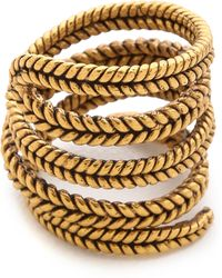 A Peace Treaty - Yiizh Spiral Twist Ring - Gold - Lyst