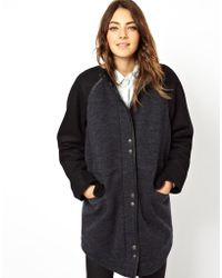 Asos Formal Parka with Borg Lining and Curved Hem - Lyst
