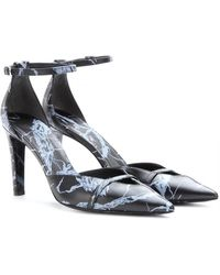 Balenciaga Printed Leather Pumps - Lyst