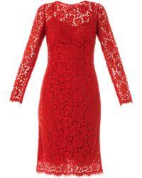 Dolce & Gabbana Lace Long Sleeved Dress - Lyst