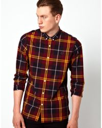 Simon Carter - Fred Perry Large Mod Check Shirt - Lyst