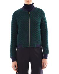 Marc By Marc Jacobs - Argyle Quilted Bomber Jacket - Lyst