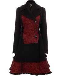 McQ by Alexander McQueen Fringed Tweed Coat - Lyst