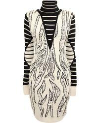 McQ by Alexander McQueen Tiger Jacquard Knit Dress - Lyst