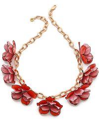 Tory Burch - Pentier Multi Flower Necklace - Lyst
