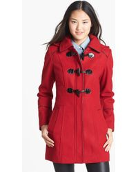 Guess Hooded Toggle Coat - Lyst