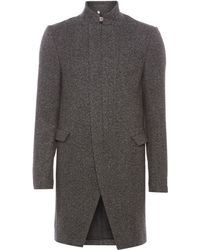 Label Lab Wool Long Line Coat - Lyst