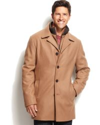 Calvin Klein Coat Bib Wool-blend Walker Coat - Lyst