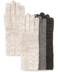 C By Bloomingdale's - Metallic Pointelle Cashmereblend Gloves - Lyst