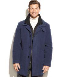 CALVIN KLEIN 205W39NYC - Coleman Wool Blend Overcoat - Lyst
