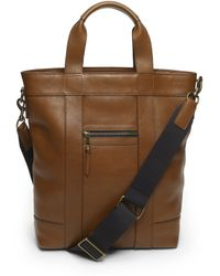 Club Monaco - Leather Zip Top Tote - Lyst