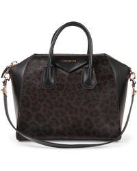 Givenchy Antigona Medium Leopardprint Tote - Lyst