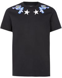 Givenchy Stars and Flowers Tshirt - Lyst