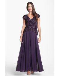 J Kara Embellished Gown - Lyst