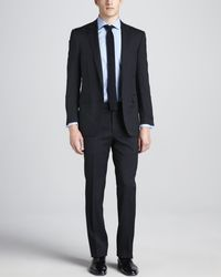 Ralph Lauren Black Label Woolcrepe Twopiece Suit Navy - Lyst