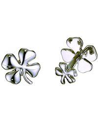 Robin Rotenier | Sterling Silver Four Leaf Clover Cufflinks | Lyst