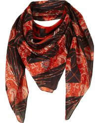 TOPSHOP - Paisley Geo Square Scarf - Lyst