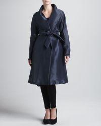 Donna Karan New York Evening Clutch Organza Belted Coat - Lyst