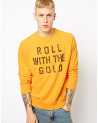 Insight - Crew Sweatshirt Roll Gold Print - Lyst