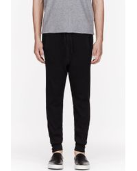 The White Briefs - Black Ribbed Cotton Stretch Lounge Leggings - Lyst