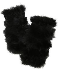 Jocelyn - Mandy Rabbit Fur Mittens - Lyst