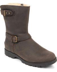 Ugg Grandle Leather Biker Boots - Lyst
