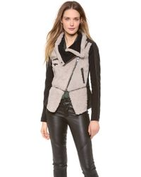 Yigal Azrouël Shearling Leather Jacket - Lyst