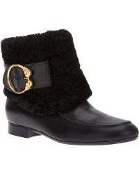 Alexander McQueen Buckled Ankle Boot - Lyst