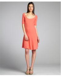 BCBGMAXAZRIA Coral Stetch Knit 'Madisyn' 3/4 Sleeve Dress - Lyst