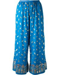 Jean Paul Gaultier Printed Palazzo Trouser - Lyst
