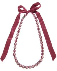 Lanvin Ribbonembellished Necklace - Lyst