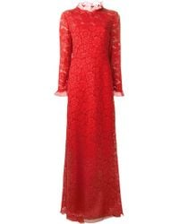 Valentino Lace Gown red - Lyst