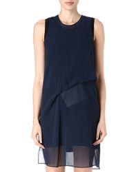 Acne Studios Paint Silk Sheer Drape Dress - Lyst
