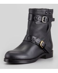 Chloé Doublebuckle Moto Boot Black - Lyst