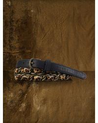 Denim & Supply Ralph Lauren - Leopard Haircalf Chain Belt - Lyst