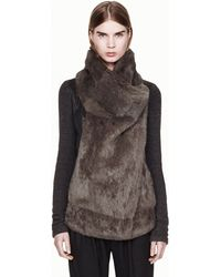 Helmut Lang Flux Fur Jacket - Lyst