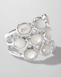 Ippolita - Sterling Silver Rock Candy 3row Ring in Motherofpearl - Lyst