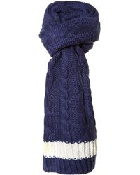 Joules - Westby Cable Knit Scarf - Lyst